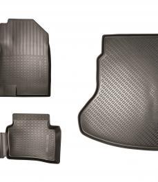 Килимки салону і багажного відсіку, комплект. Гумові, для комплектацій Prestige і Premium.